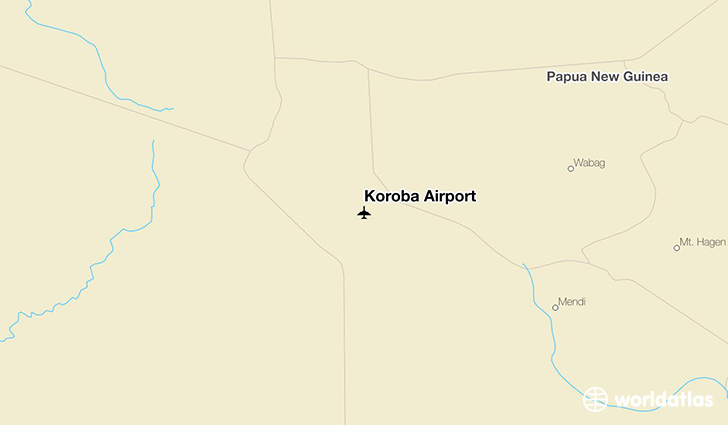 Koroba Airport location on a map