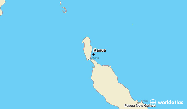 Kanua location on a map
