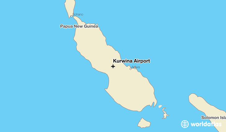 Kurwina Airport location on a map