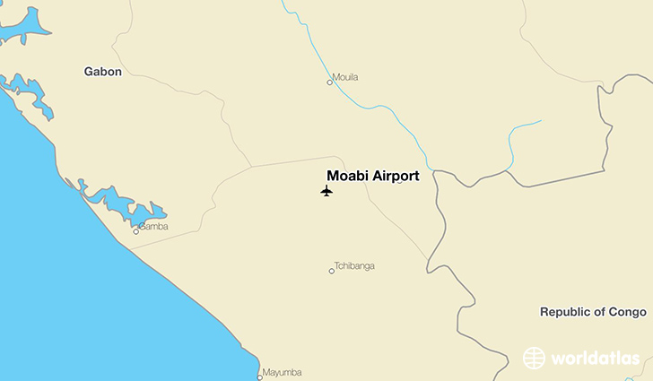 Moabi Airport location on a map