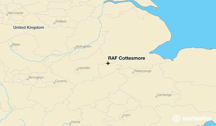 RAF Cottesmore location on a map