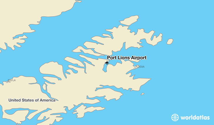 Port Lions Airport location on a map
