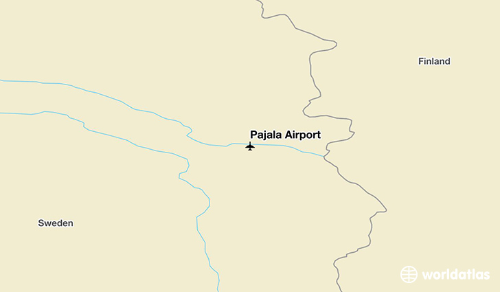 Pajala Airport location on a map