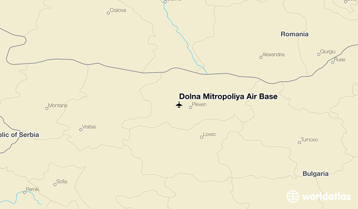 Dolna Mitropoliya Air Base location on a map