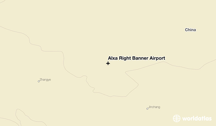 Alxa Right Banner Airport location on a map