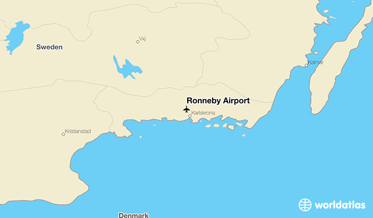 Ronneby Airport location on a map