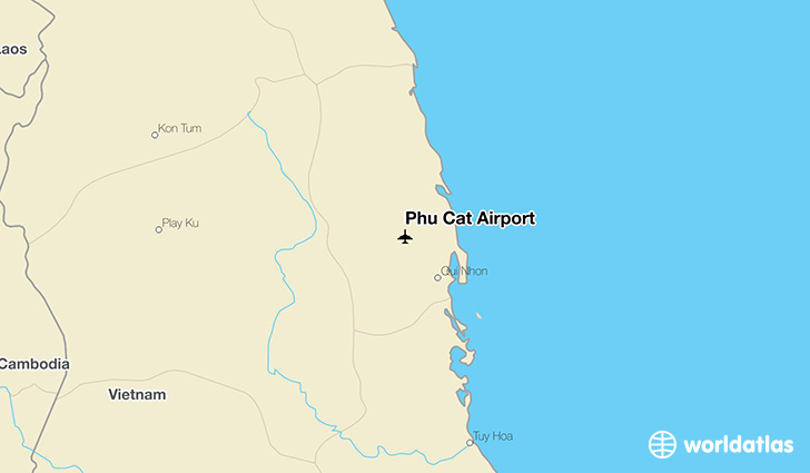 Phu Cat Airport location on a map