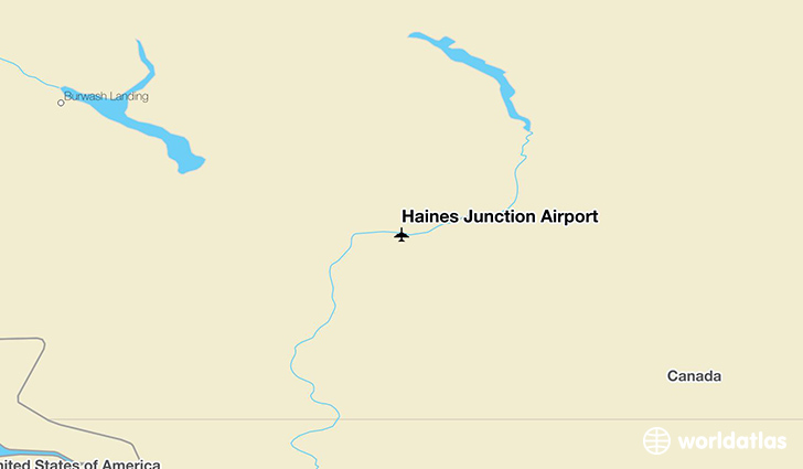 Haines Junction Airport location on a map