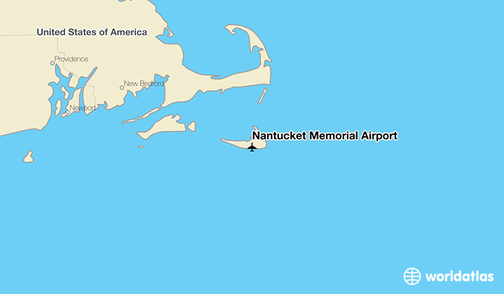 Nantucket Memorial Airport location on a map