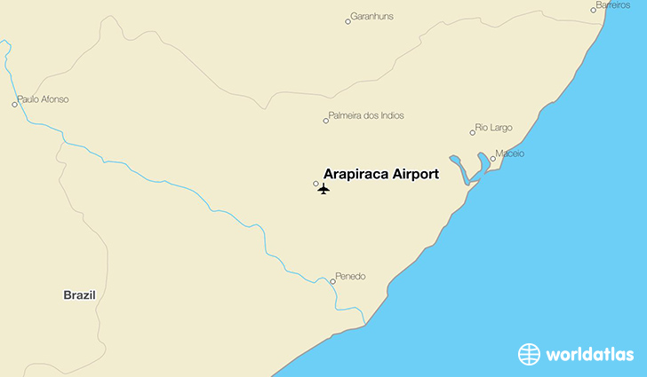 Arapiraca Airport location on a map