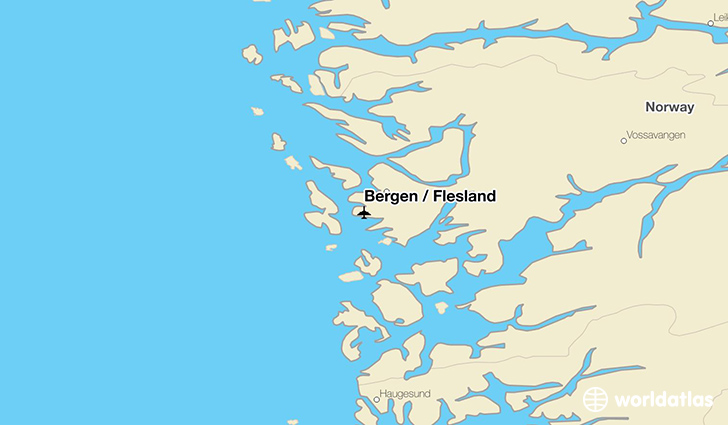 Bergen / Flesland location on a map