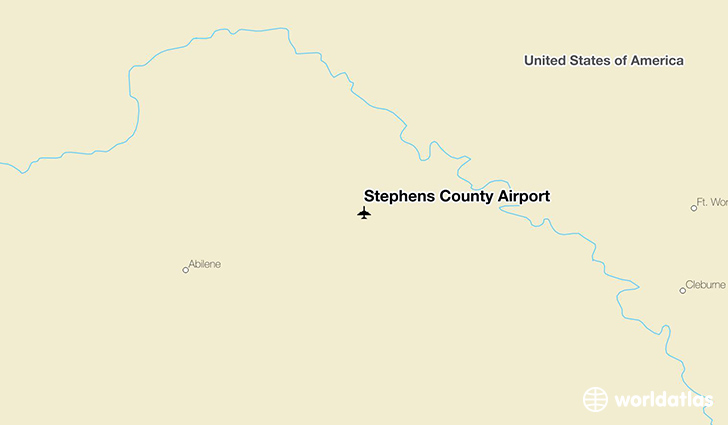 Stephens County Airport location on a map