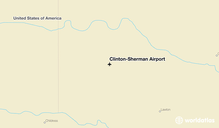 Clinton-Sherman Airport location on a map