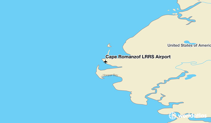 Cape Romanzof LRRS Airport location on a map