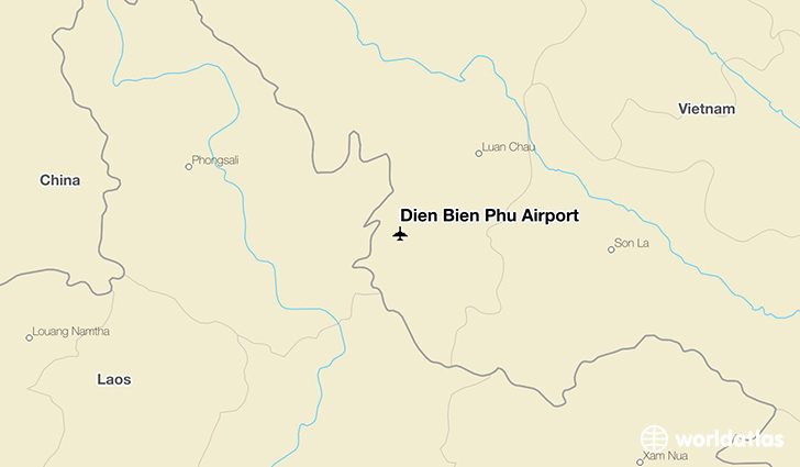 Dien Bien Phu Airport location on a map
