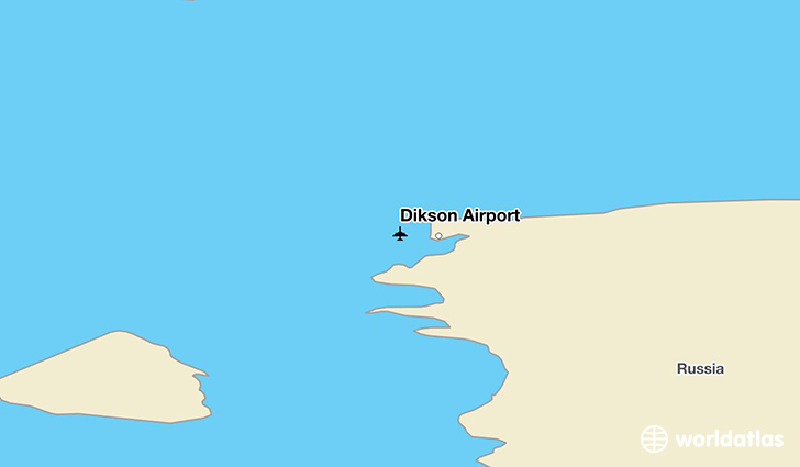 Dikson Airport location on a map