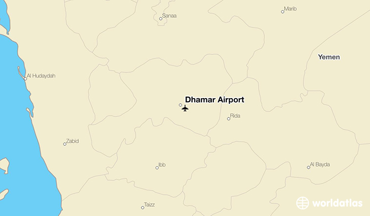 Dhamar Airport location on a map