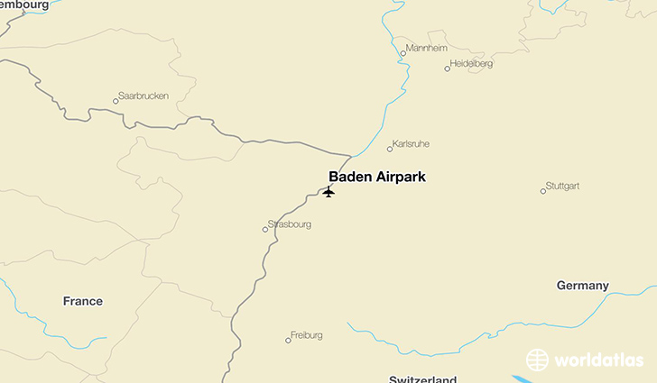 Baden Airpark location on a map