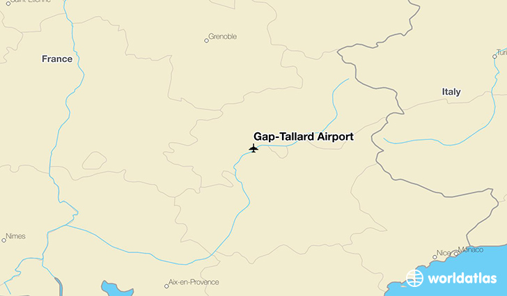 Gap–Tallard Airport location on a map