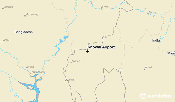 Khowai Airport location on a map