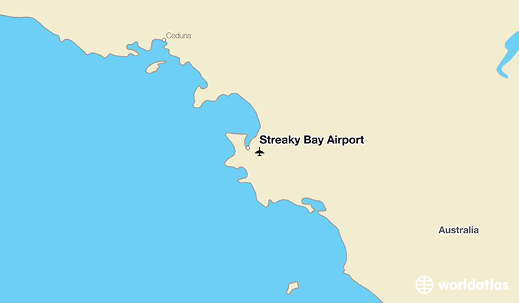 Streaky Bay Airport location on a map