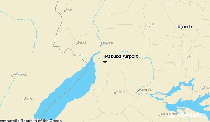 Pakuba Airport location on a map