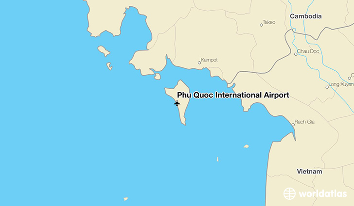 Phu Quoc International Airport location on a map