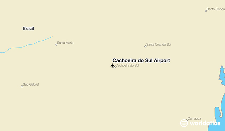 Cachoeira do Sul Airport location on a map
