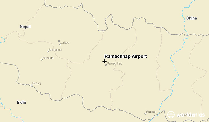 Ramechhap Airport location on a map