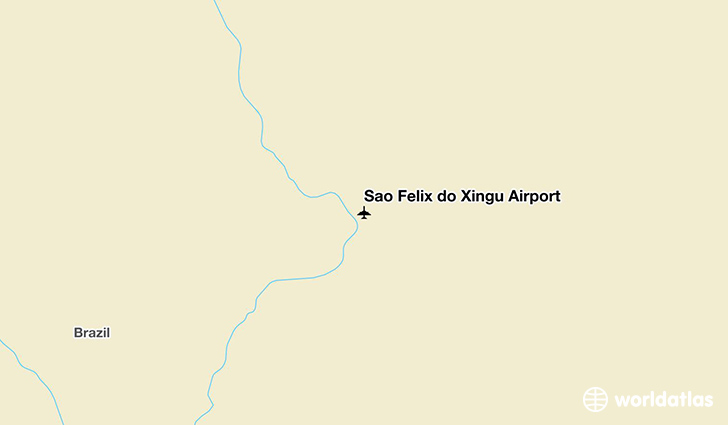 São Félix do Xingu Airport location on a map