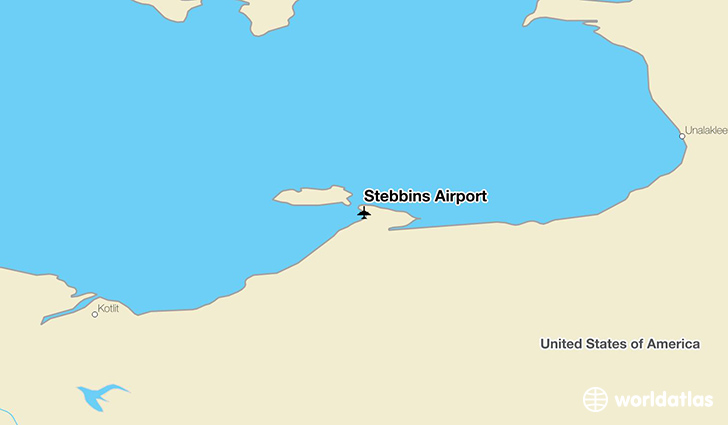 Stebbins Airport location on a map