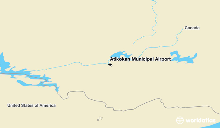 Atikokan Municipal Airport location on a map