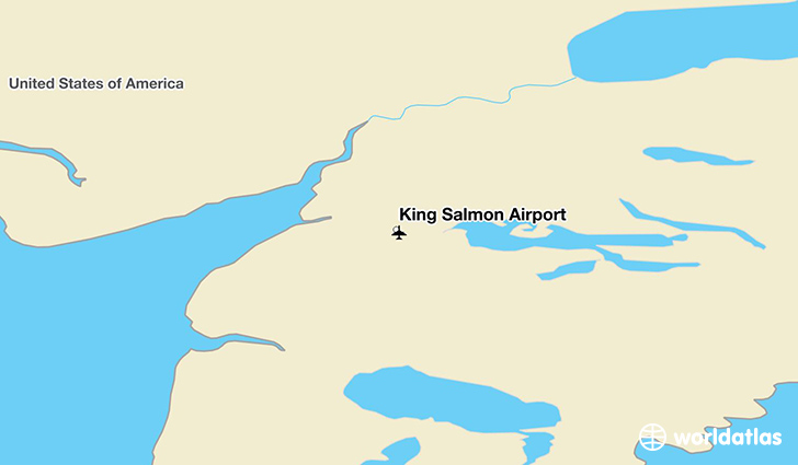 King Salmon Airport location on a map