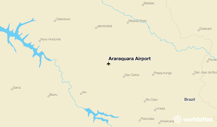 Araraquara Airport location on a map