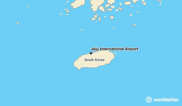 Jeju International Airport location on a map