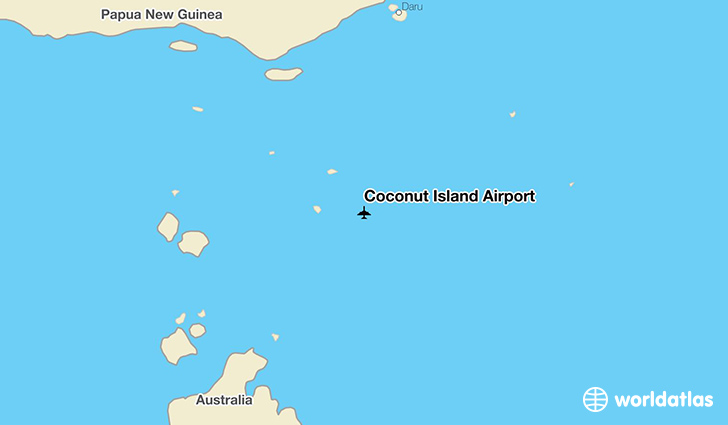 Coconut Island Airport location on a map