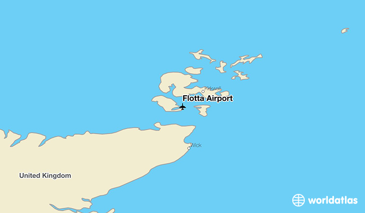Flotta Airport location on a map