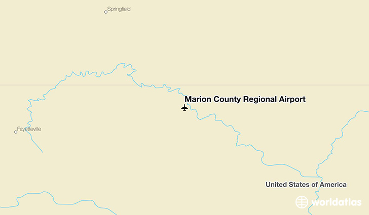 Marion County Regional Airport location on a map
