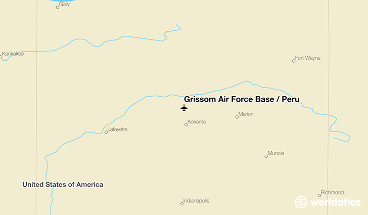 Grissom Air Force Base / Peru location on a map