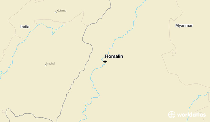 Homalin location on a map