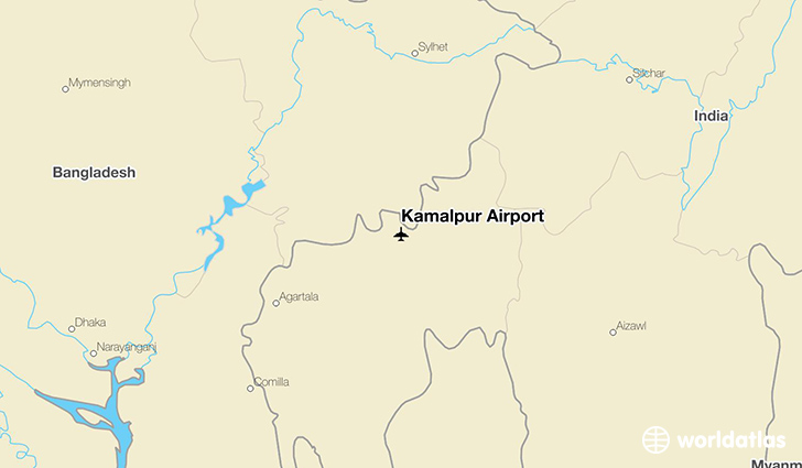 Kamalpur Airport location on a map