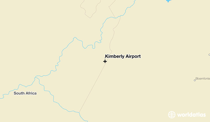 Kimberly Airport location on a map