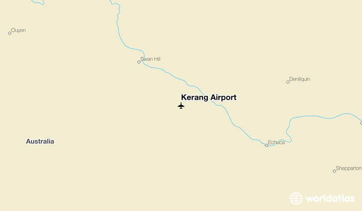 Kerang Airport location on a map