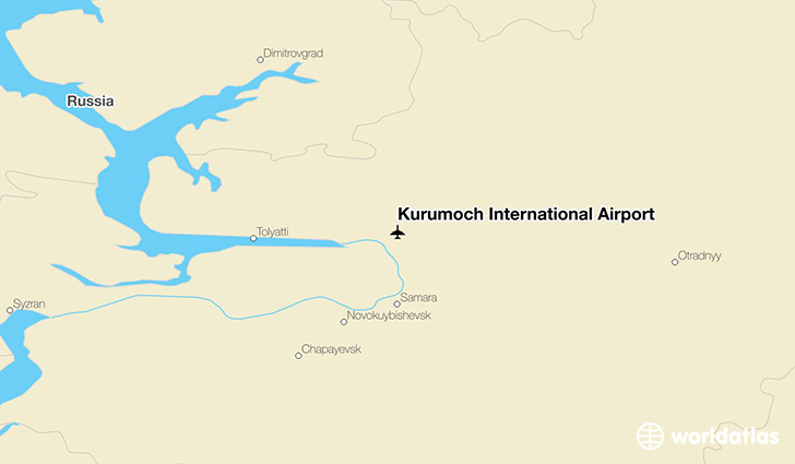 Kurumoch International Airport location on a map