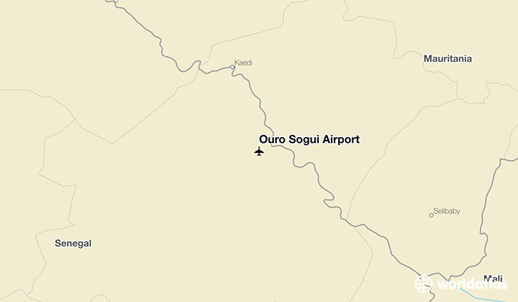 Ouro Sogui Airport location on a map