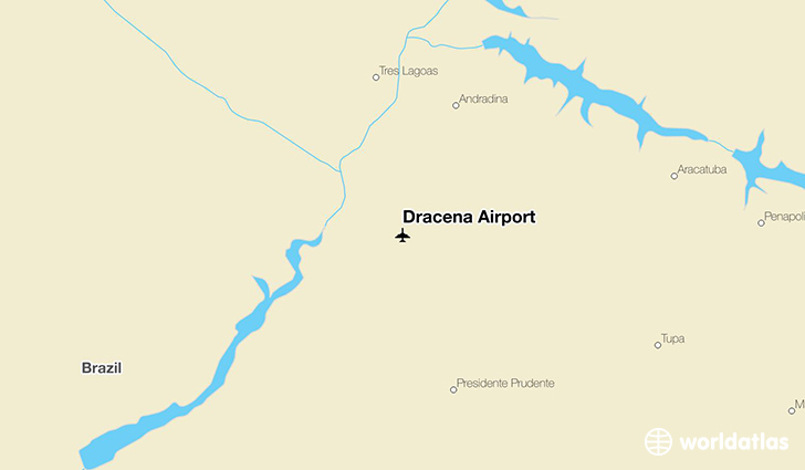 Dracena Airport location on a map