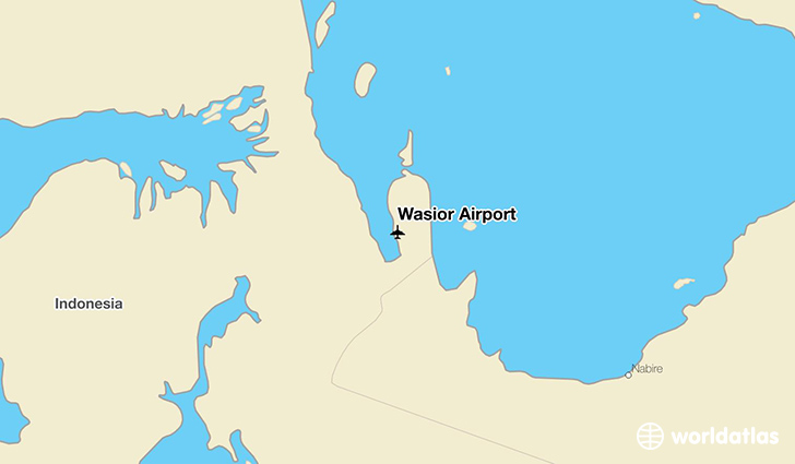 Wasior Airport location on a map