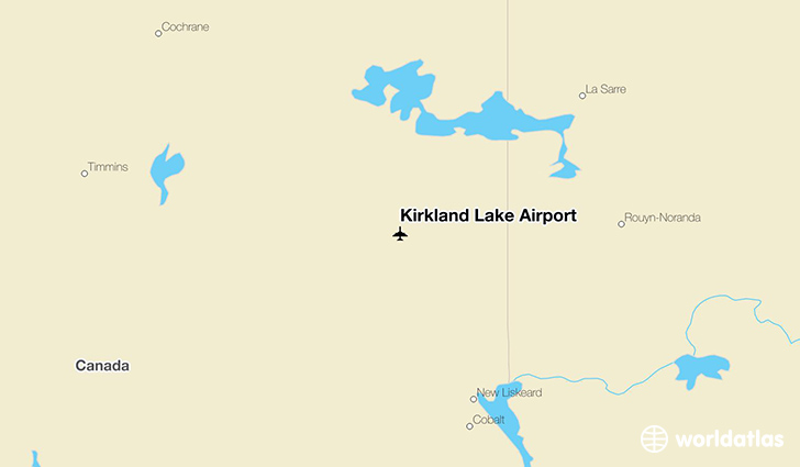 Kirkland Lake Airport location on a map