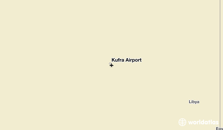 Kufra Airport location on a map