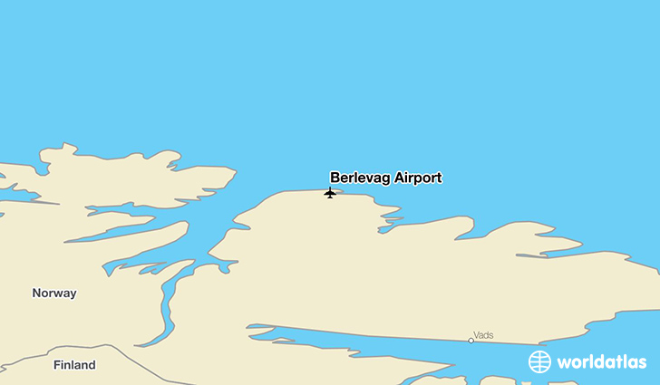 Berlevåg Airport location on a map